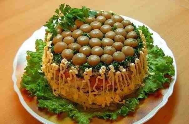 Салат «Грибная поляна»