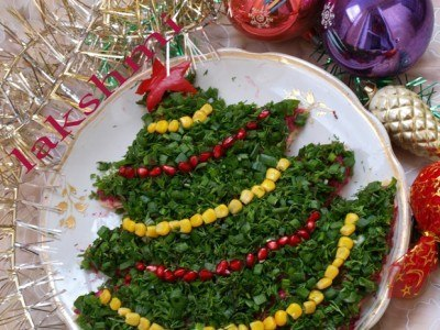 """Салат """"Новогодняя ёлка"""""""