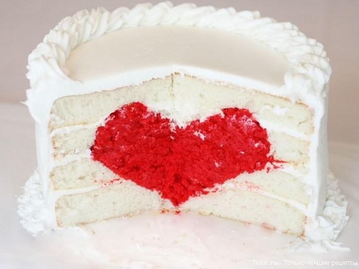 Торт с сердечком внутри