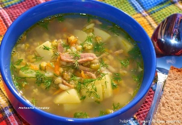 Суп с машем и рисом