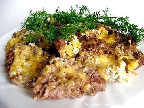 Мясо с сыром в фольге