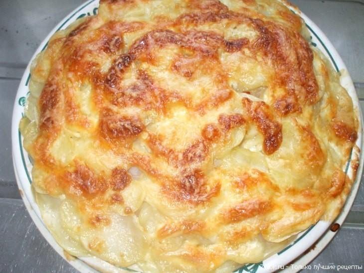 Рыба с картофелем запеченные под майонезом